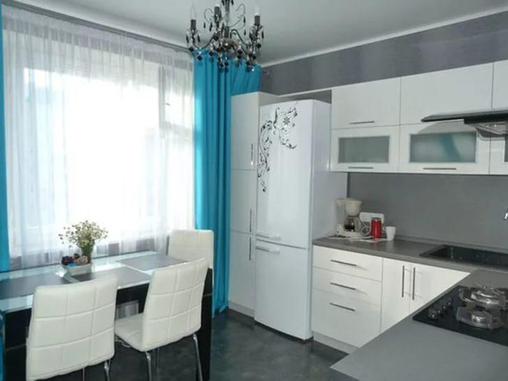 дизайн кухни 7 кв м фото в панельном доме