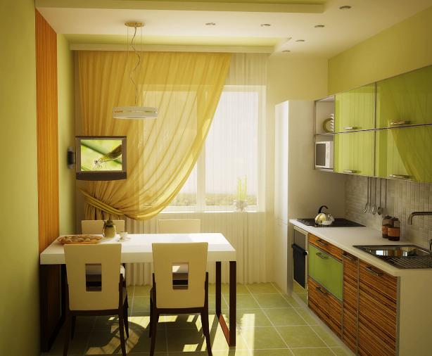 Дизайн интерьера кухни на 7 кв метрах