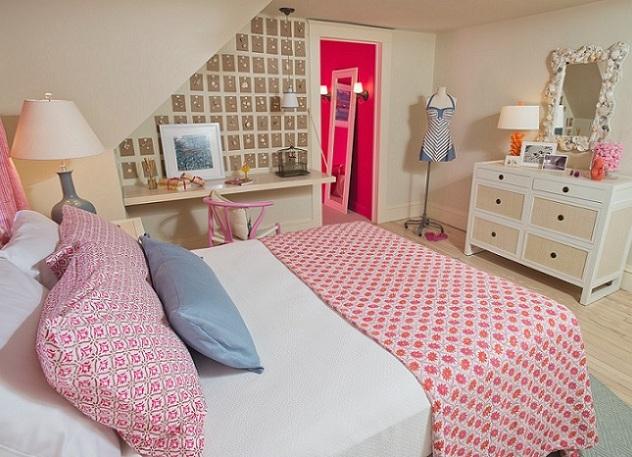 Фиолетовый дизайн комнаты для девочки подростка