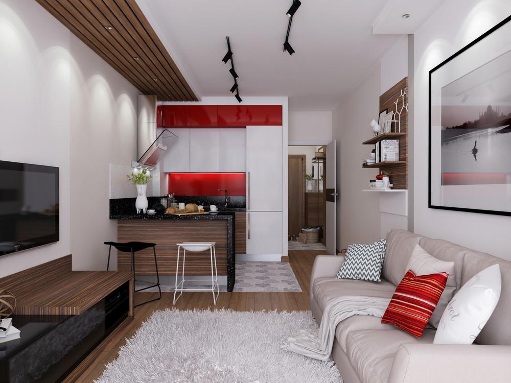 Дизайн маленькой студии 30 квм