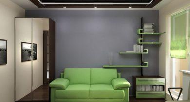 как расставить мебель в комнате 12 метров фото