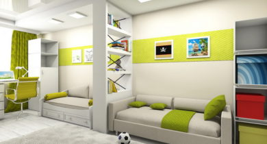 интерьер детской комнаты для двух мальчиков фото разного возраста