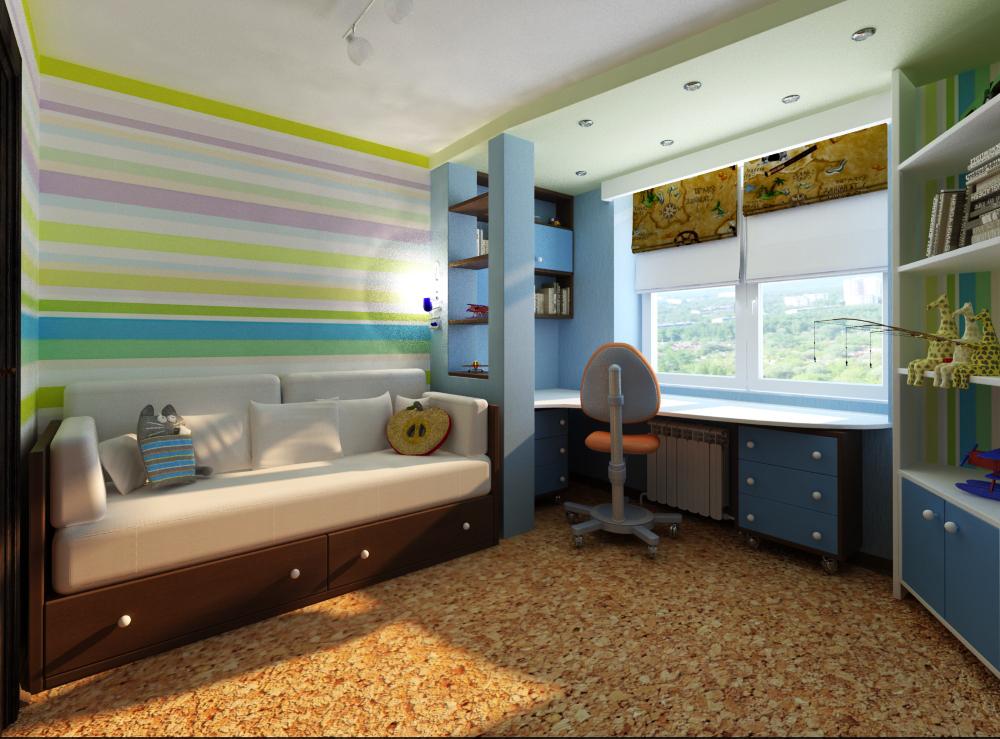 Интерьер детской комнаты для двоих детей фото 13 м2 - Pinterest 43