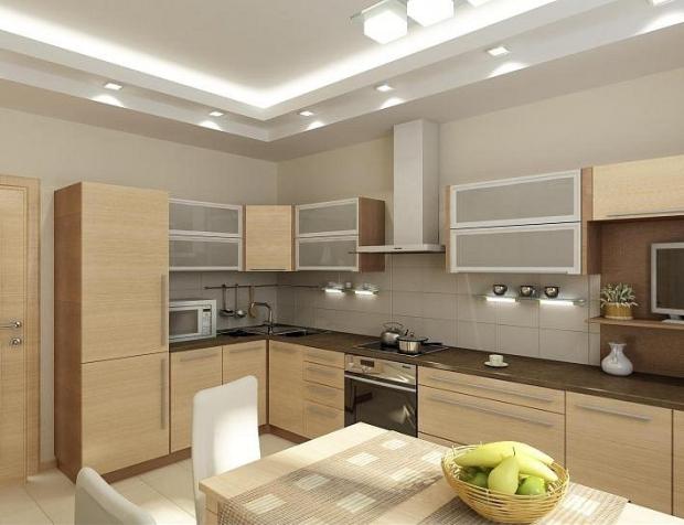 Угловой кухни интерьер фото