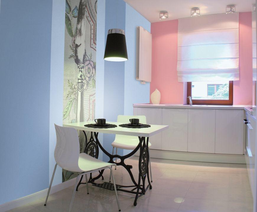 Стены под покраску в интерьере на кухне
