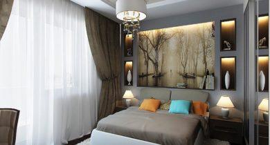 интерьер спальни фото в современном стиле 12 кв.м в хрущевке