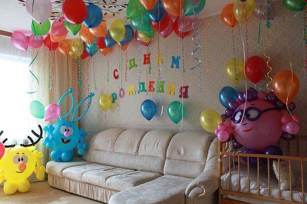 Украшение из шаров на день рождения ребенка своими руками 8