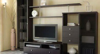 дизайн стенки для гостиной фото