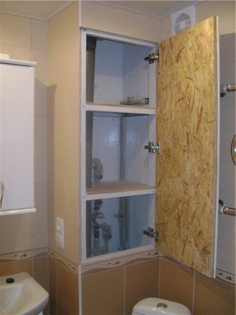Шкаф из гипсокартона своими руками в ванную