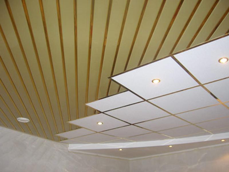 Как и чем можно сделать потолок на кухне 340