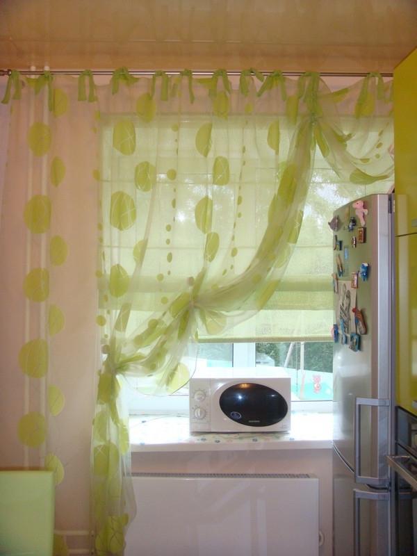 Из органзы шторы на кухню дизайн