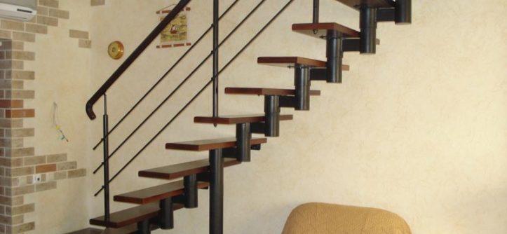 модульные лестницы на второй этаж в частном доме