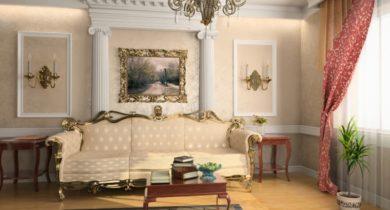 дизайн гостинной комнаты 17 кв.м фото в классическом стиле