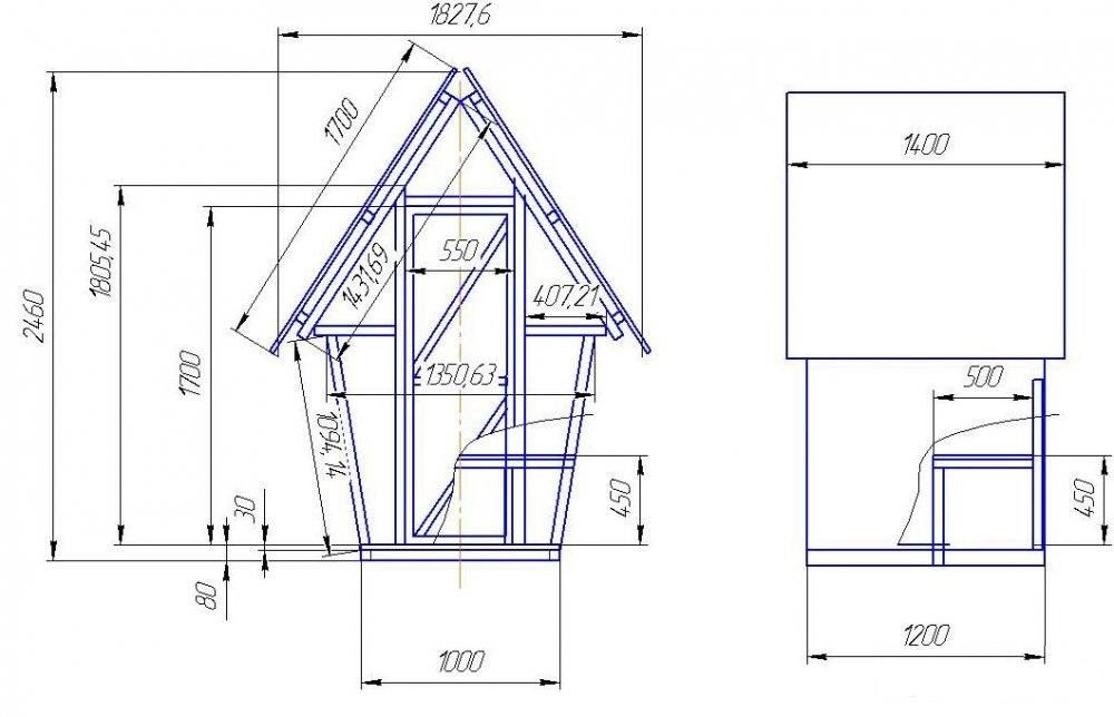 Чертежи туалета на даче своими руками размеры чертежи