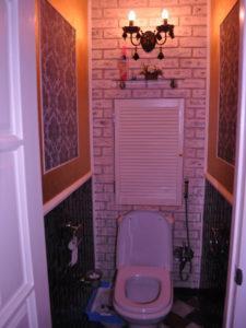 Туалетная комната своими руками фото