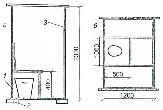 Туалет в своем доме чертежи размеры