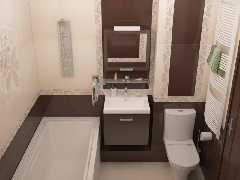 Дизайн совмещенного санузла 4 кв. м