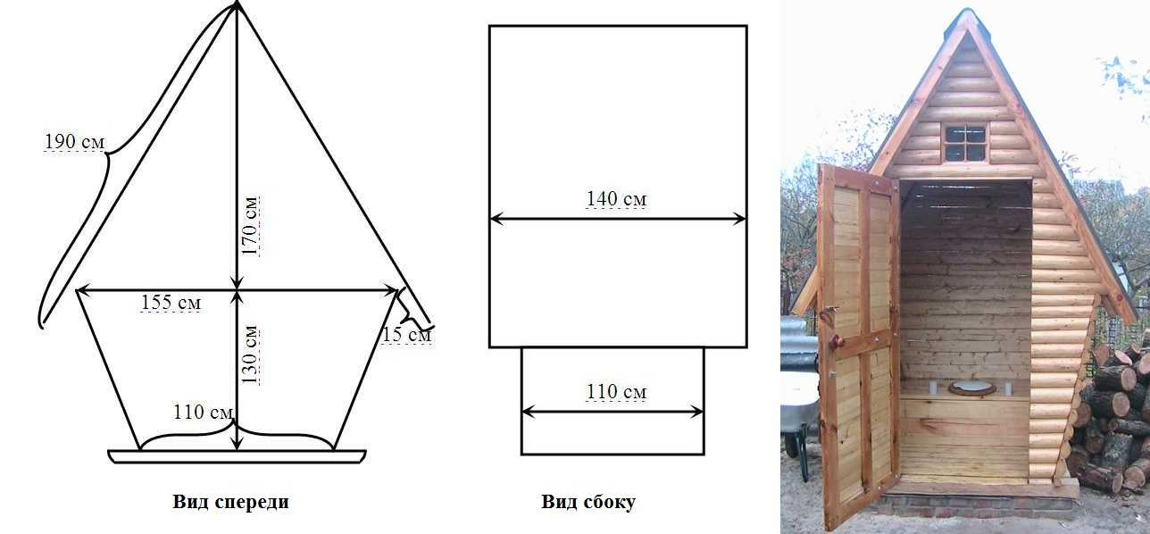 Как построить деревянный туалет своими руками чертежи 211