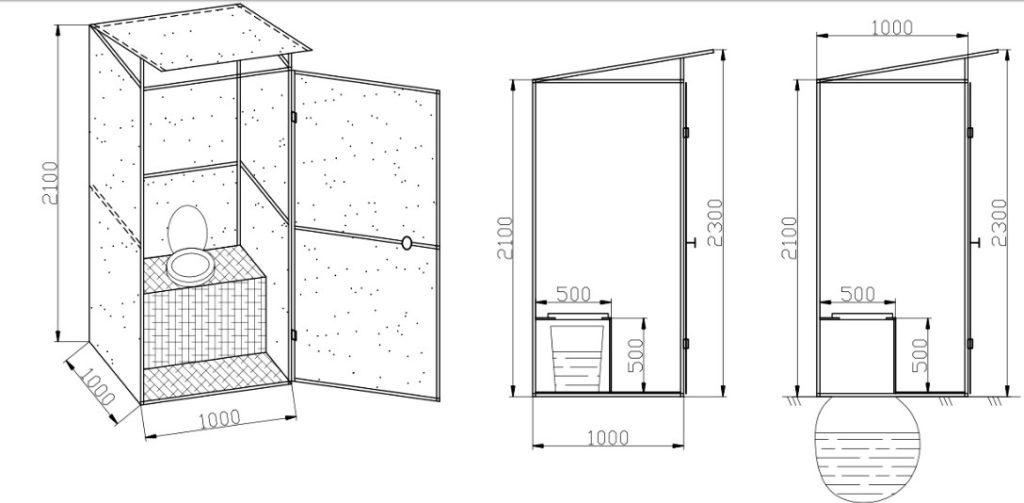 Туалет на даче чертеж