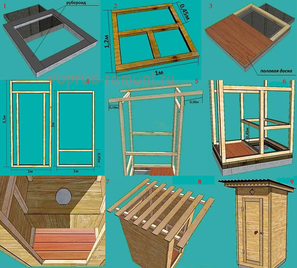 Как делать деревянный туалет на даче