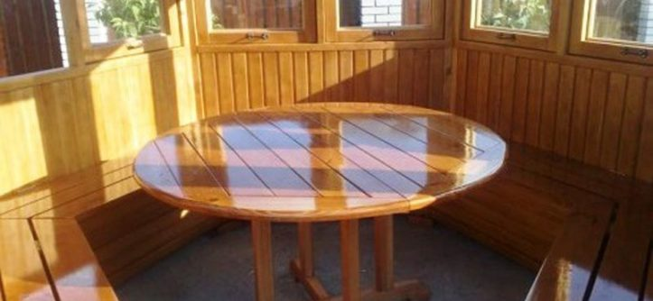 стол для беседки из дерева своими руками чертежи