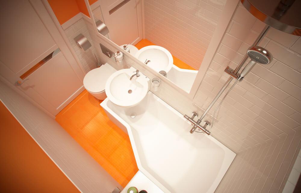 Ванна дизайн очень маленькой ванной комнаты