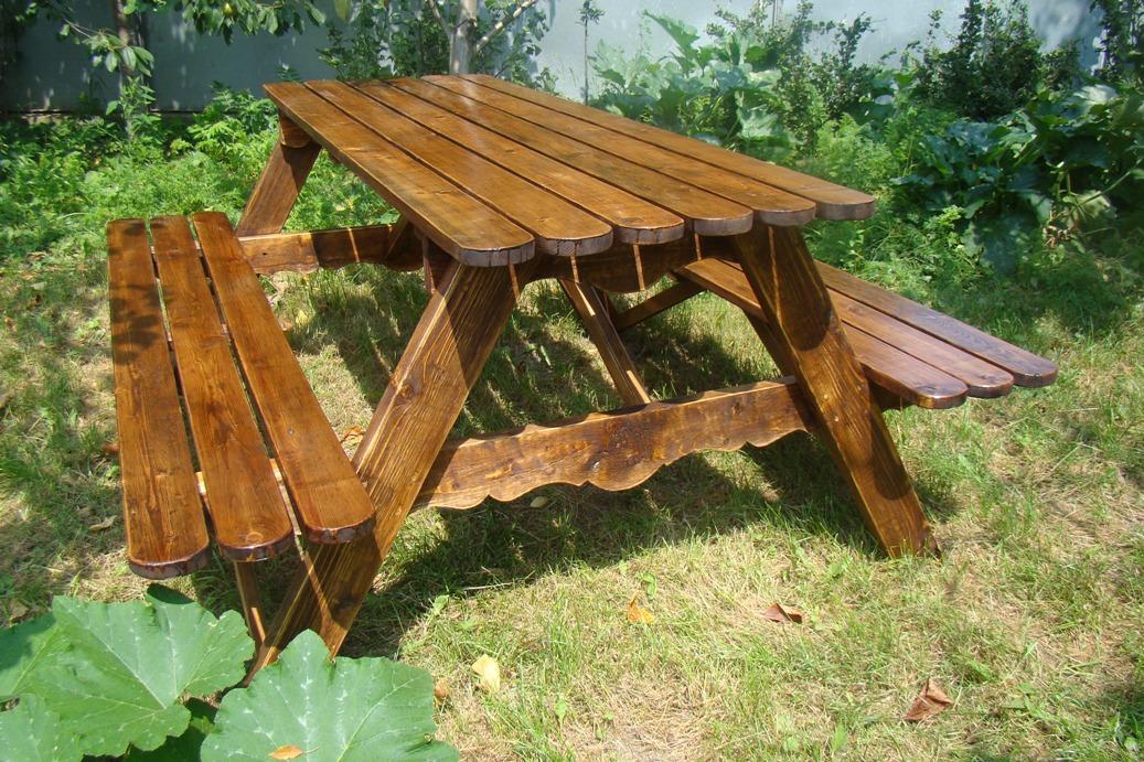 Как своими руками сделать стол для сада 664