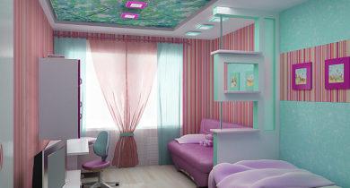 дизайн детской комнаты для двух разнополых детей 12 кв.м фото