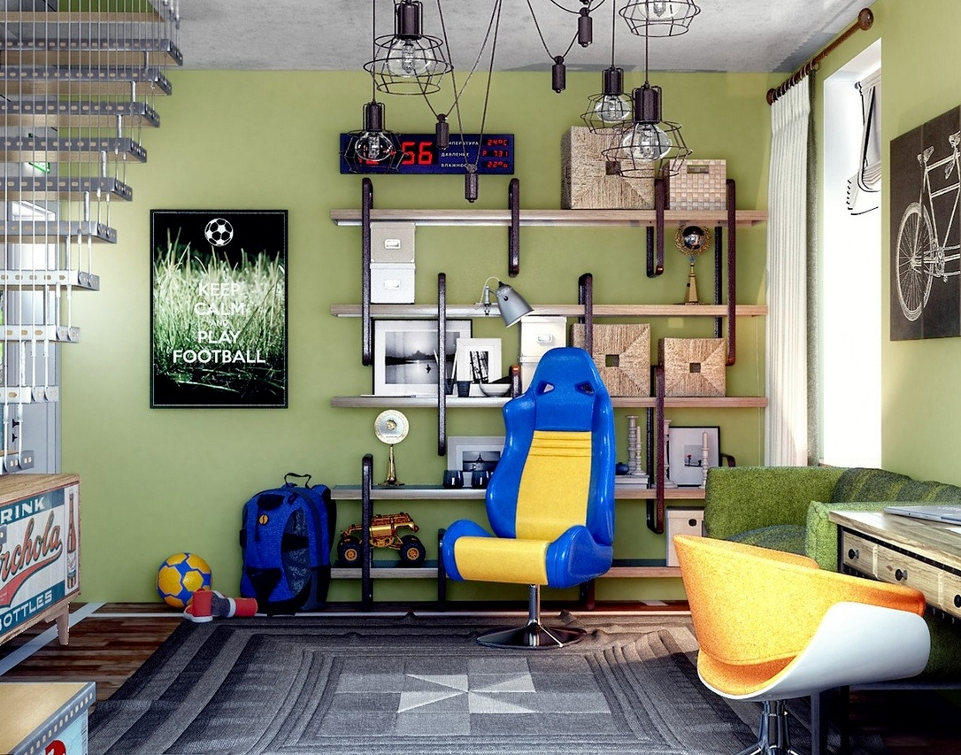 Дизайн и интерьер комнаты для подростка фото