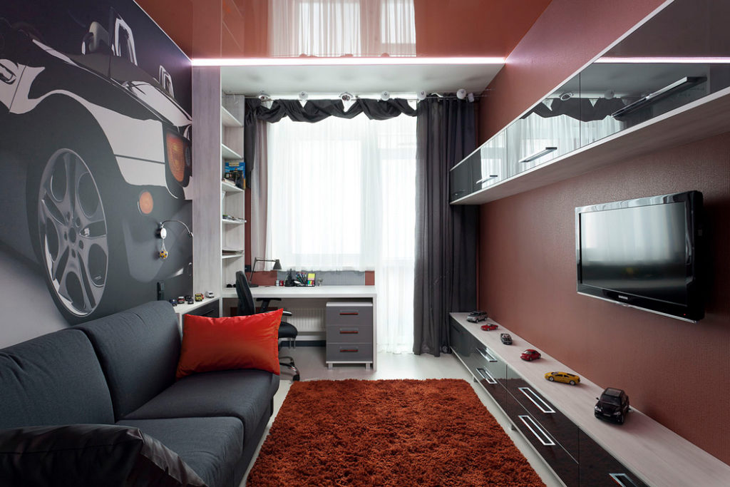 Дизайн комнаты 12 квм в
