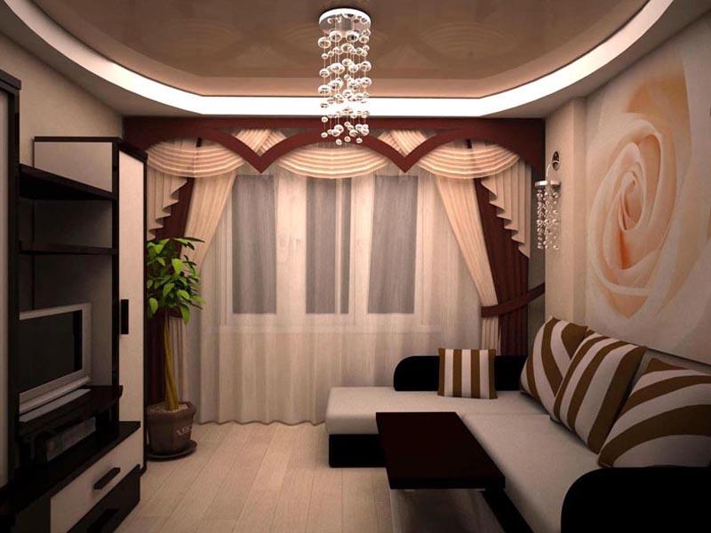 Дизайн для маленького зала в квартире